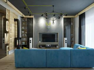 LoFT HOME Гостиная в стиле лофт от V2 ARCHITECTS Лофт