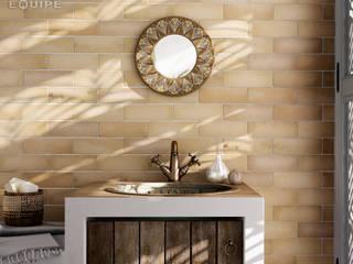 Equipe Ceramicas Kamar Mandi Gaya Rustic Keramik Amber/Gold