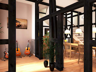 Country style dining room by existo anima Country