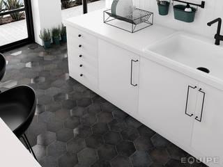 Equipe Ceramicas Dapur Gaya Industrial Keramik Black