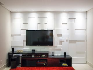 C2HA Arquitetos Living room White