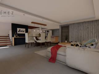 ห้องนั่งเล่น โดย GóMEZ arquitectos, โมเดิร์น