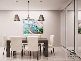 Minimalist dining room by KORBA Arquitectos Minimalist