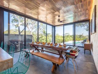 Villa Lagú 18 Tulum: Comedores de estilo  por Obed Clemente Arquitectos,