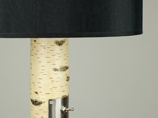 Floor lamp made of birch branches Meble Autorskie Jurkowski Salas/RecibidoresIluminación