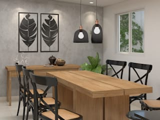 Studio MP Interiores Dapur kecil Kayu Wood effect