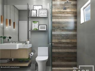 Industrial style bathroom by STUDIO 405 - ARQUITETURA & INTERIORES Industrial