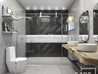 Rustic style bathroom by STUDIO 405 - ARQUITETURA & INTERIORES Rustic