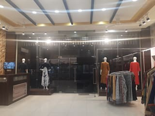 Garments Showroom Interior by divine architects