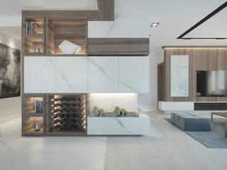 Nowoczesny dom Minimalistyczny salon od Lew Architekci & Archideck Minimalistyczny