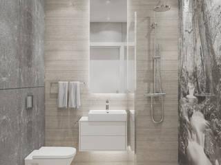 Skandynawski projekt mieszkania : styl , w kategorii Łazienka zaprojektowany przez Lew Architekci & Archideck