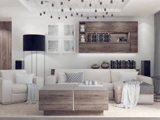 Klasyczny dom: styl , w kategorii Salon zaprojektowany przez Lew Architekci & Archideck