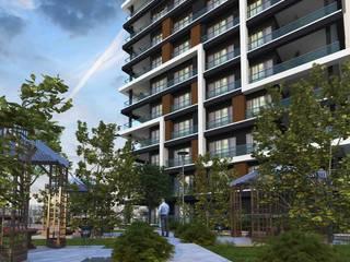 Mimayris Proje ve Yapı Ltd. Şti. สวนหน้าบ้าน หิน Grey