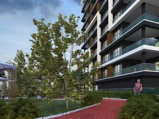 Mimayris Proje ve Yapı Ltd. Şti. สวนหน้าบ้าน ยาง Orange
