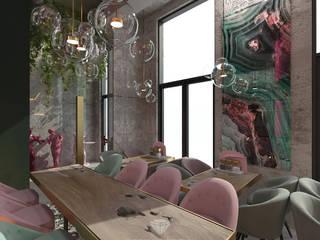 Comedores de estilo industrial de Студия дизайна интерьера Руслана и Марии Грин Industrial