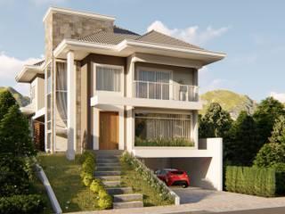Fachada: Casas  por Fran Arquitetura
