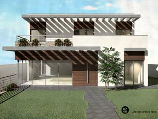 ATELIER OPEN ® - Arquitetura e Engenharia Einfamilienhaus Eisen/Stahl Bernstein/Gold