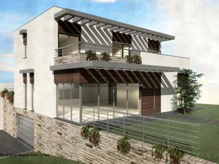 ATELIER OPEN ® - Arquitetura e Engenharia Villa Sperrholz Weiß