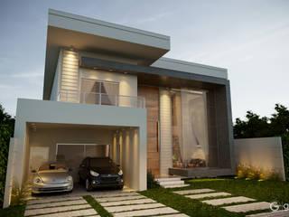 Projeto Casa Contemporânea: Condomínios  por Gelker Ribeiro Arquitetura | Arquiteto Rio de Janeiro