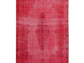 Vintage Teppich Rot Overdyed 260 x 185 cm: industriell  von Art Oriental Teppiche-Möbel-Antiquitäten Handelsgesellschaft mbH,Industrial