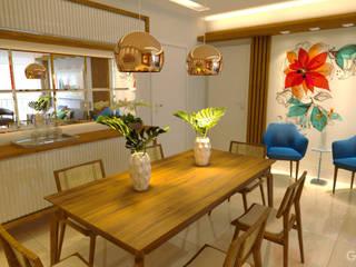 Projeto Arquitetura de interiores  | Reforma Apartamento: Salas de jantar  por Gelker Ribeiro Arquitetura | Arquiteto Rio de Janeiro