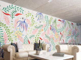 proyecto a-46 remodelación departamento en playa del carmen: Salas de estilo  por Daniel Cota Arquitectura | Despacho de arquitectos | Cancún