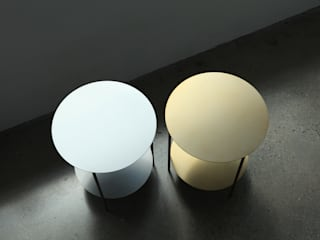 Basic Round Side Table [Gold.Silver]: PLUSTAN. 플러스탠의