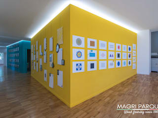 Magri Parquet Modern Corridor, Hallway and Staircase Engineered Wood Yellow