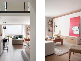 Pasillo / Sala de estar: Pasillos y vestíbulos de estilo  de Abrils Studio