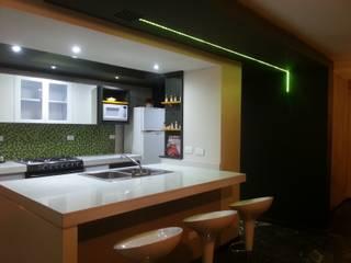 Green Kitchen MARATEA estudio Cocinas equipadas Cuarzo Blanco