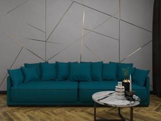 квартира студия с балконом: Гостиная в . Автор – Sensitive Design