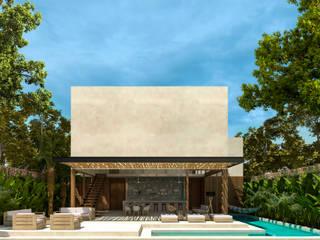 Casa Guaruma Tulum: Villas de estilo  por Obed Clemente Arquitectos,