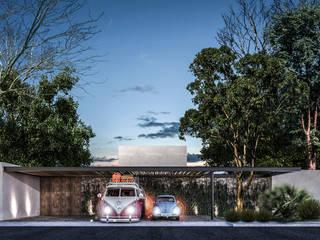 Casa Guaruma Tulum: Casas de campo de estilo  por Obed Clemente Arquitectos,