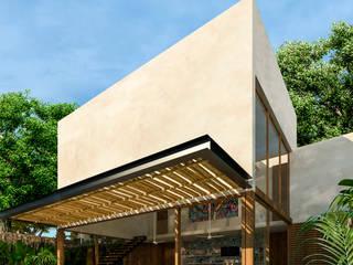 Casa Guaruma Tulum: Albercas de jardín de estilo  por Obed Clemente Arquitectos,