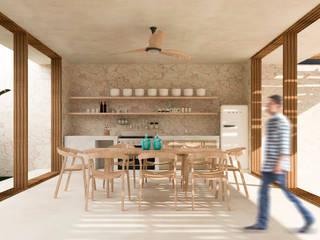Hotel Kiwi Bacalar: Cocinas pequeñas de estilo  por Obed Clemente Arquitectos,
