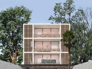 Hotel Kiwi Bacalar: Villas de estilo  por Obed Clemente Arquitectos,