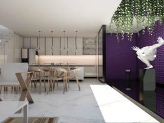 Casa en Guadalajara: Cocinas equipadas de estilo  por Obed Clemente Arquitectos,