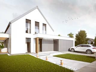 HG 06 passive Nowoczesne domy od Hexa Green Projekty domów pasywnych Nowoczesny