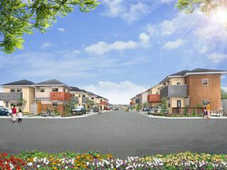 『グランハーモニー八代』 分譲住宅地: 一級建築士事務所 ネストデザインが手掛けた木造住宅です。,