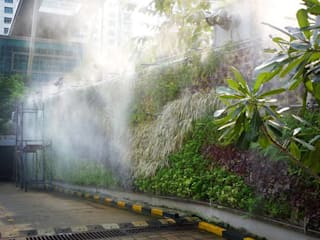 Vertical Garden at ICICI Bank (BKC complex):  Commercial Spaces by Ferntastica Gardens Limited