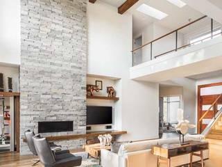 Modern living room STAAC Modern living room Bricks White