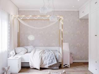 Комната для девочки Детская комнатa в скандинавском стиле от PROROOMS Скандинавский