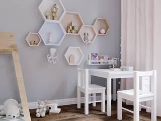 Комната для девочки Детская комнатa в стиле минимализм от PROROOMS Минимализм