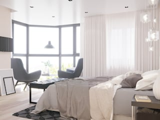 Schlafzimmer von CUBE INTERIOR, Modern