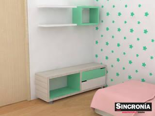 Diseño Interior Alcobas Infantiles Habitaciones para niños de estilo moderno de Sincronía Arquitectura y Diseño Moderno