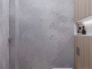 Двушка 88 кв.м. Тюмень: Ванные комнаты в . Автор – CUBE INTERIOR