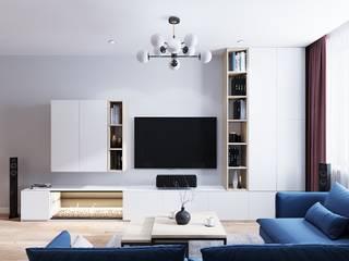 Wohnzimmer von CUBE INTERIOR