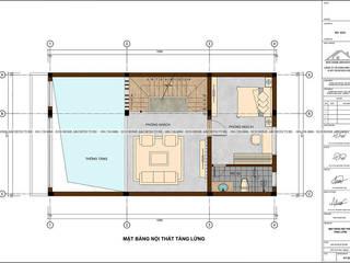 Mẫu thiết kế nhà phố tân cổ điển kết hợp kinh doanh: hiện đại  by Công ty CP kiến trúc và xây dựng Eco Home, Hiện đại