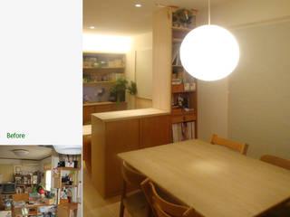 『紫竹の家』 LDK: 一級建築士事務所 ネストデザインが手掛けたダイニングです。,