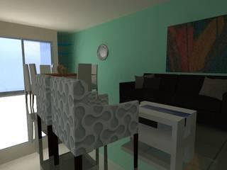 Barra en poco espacio: Salas de estilo  por Constru-Acción